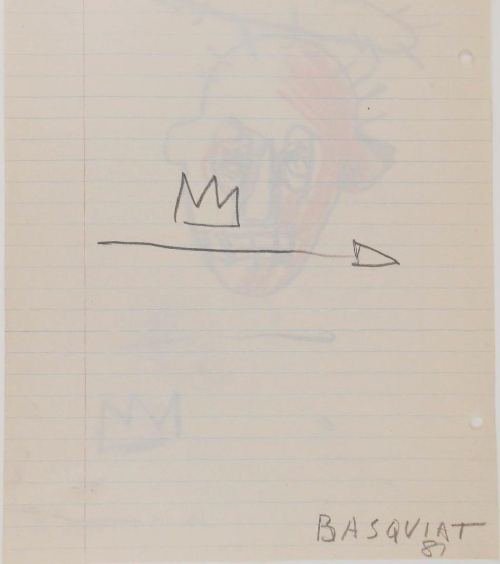 Jean-Michel Basquiat (1960-1988) Drawing - 3