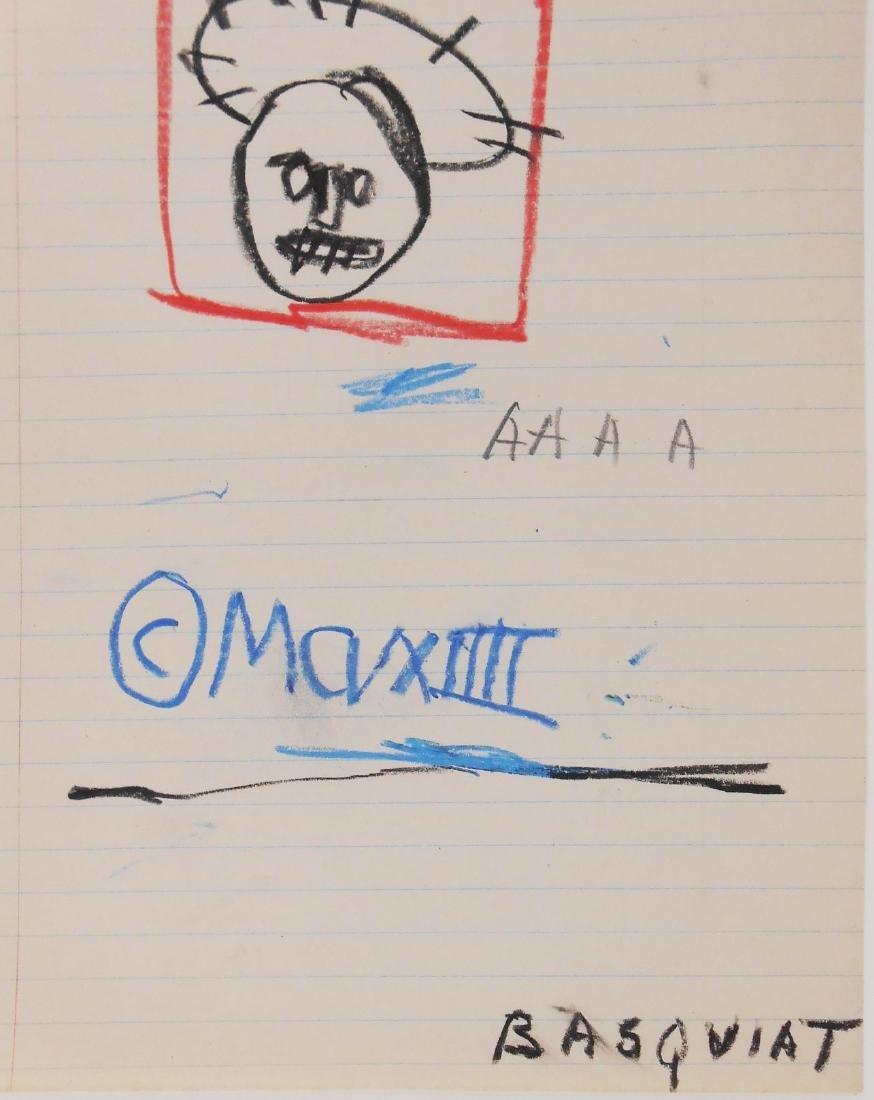 Jean-Michel Basquiat (1960-1988) Sketch - 2