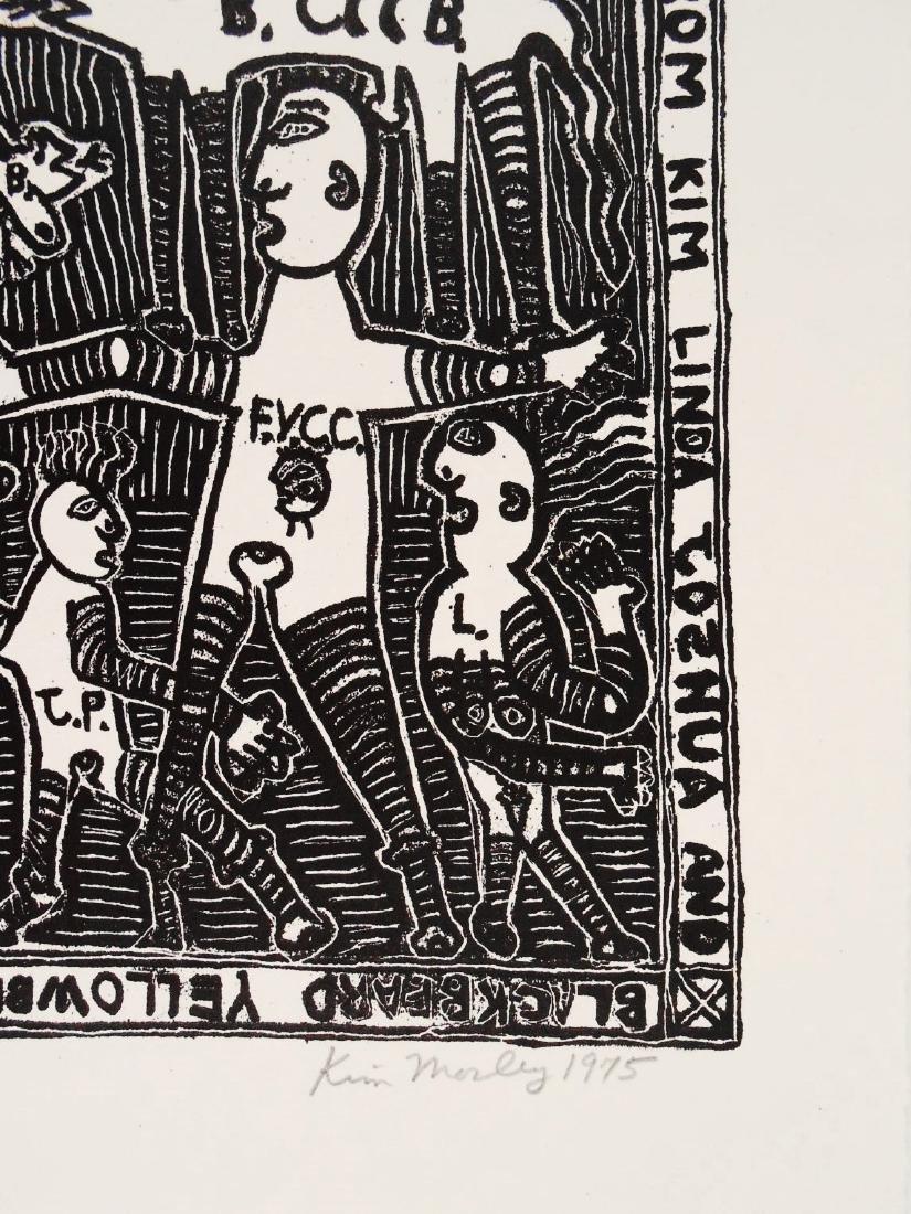 Kim Mosley (20th Century) Signed Woodblock Print - 2