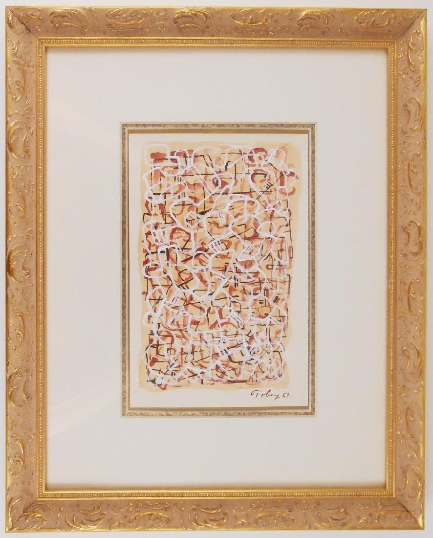 Mark Tobey (1890-1976) Gouache On Paper