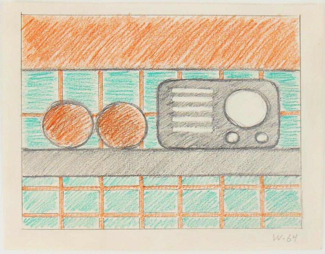 Tom Wesselmann (1931-2004) Colored Pencil Sketch