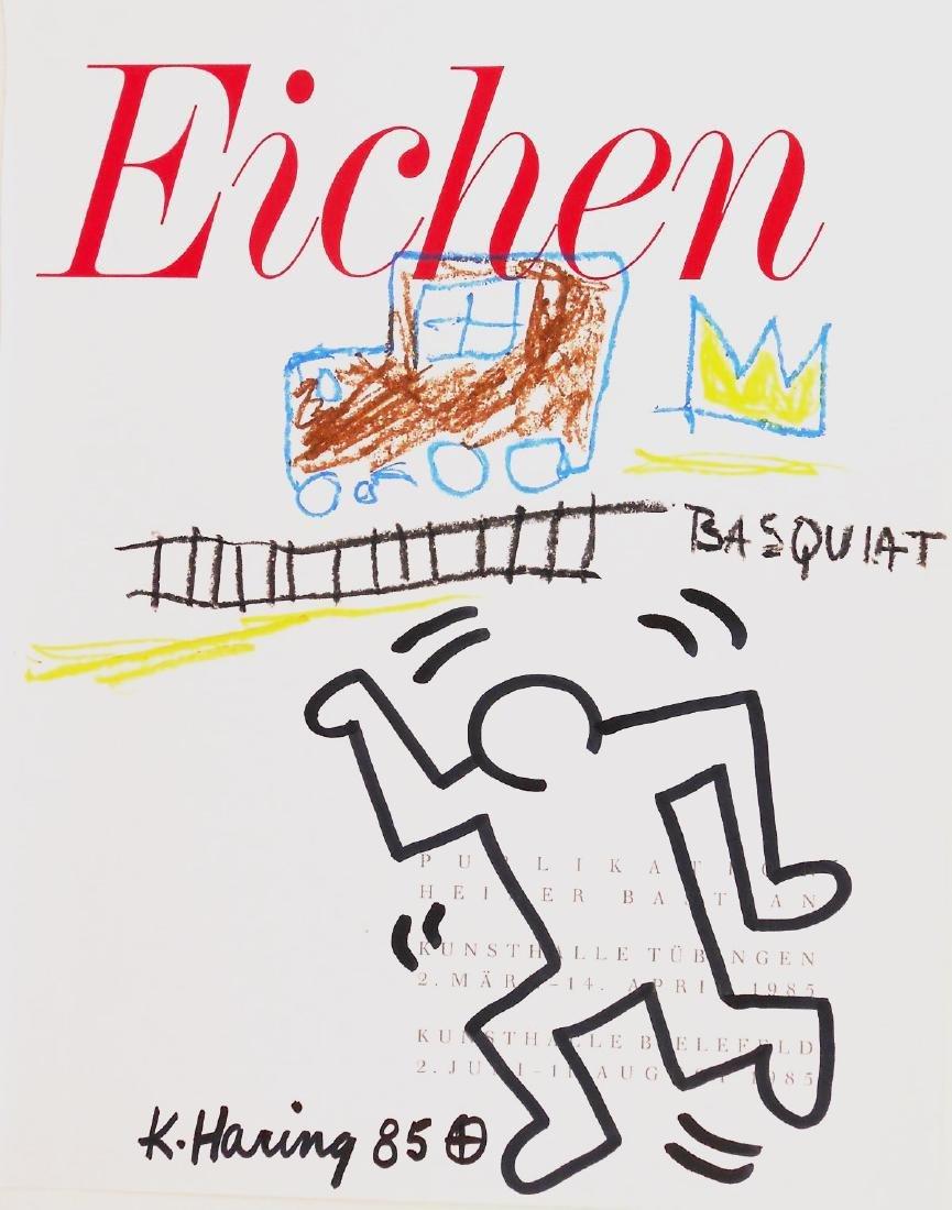 Keith Haring & Jean-Michel Basquiat Drawing