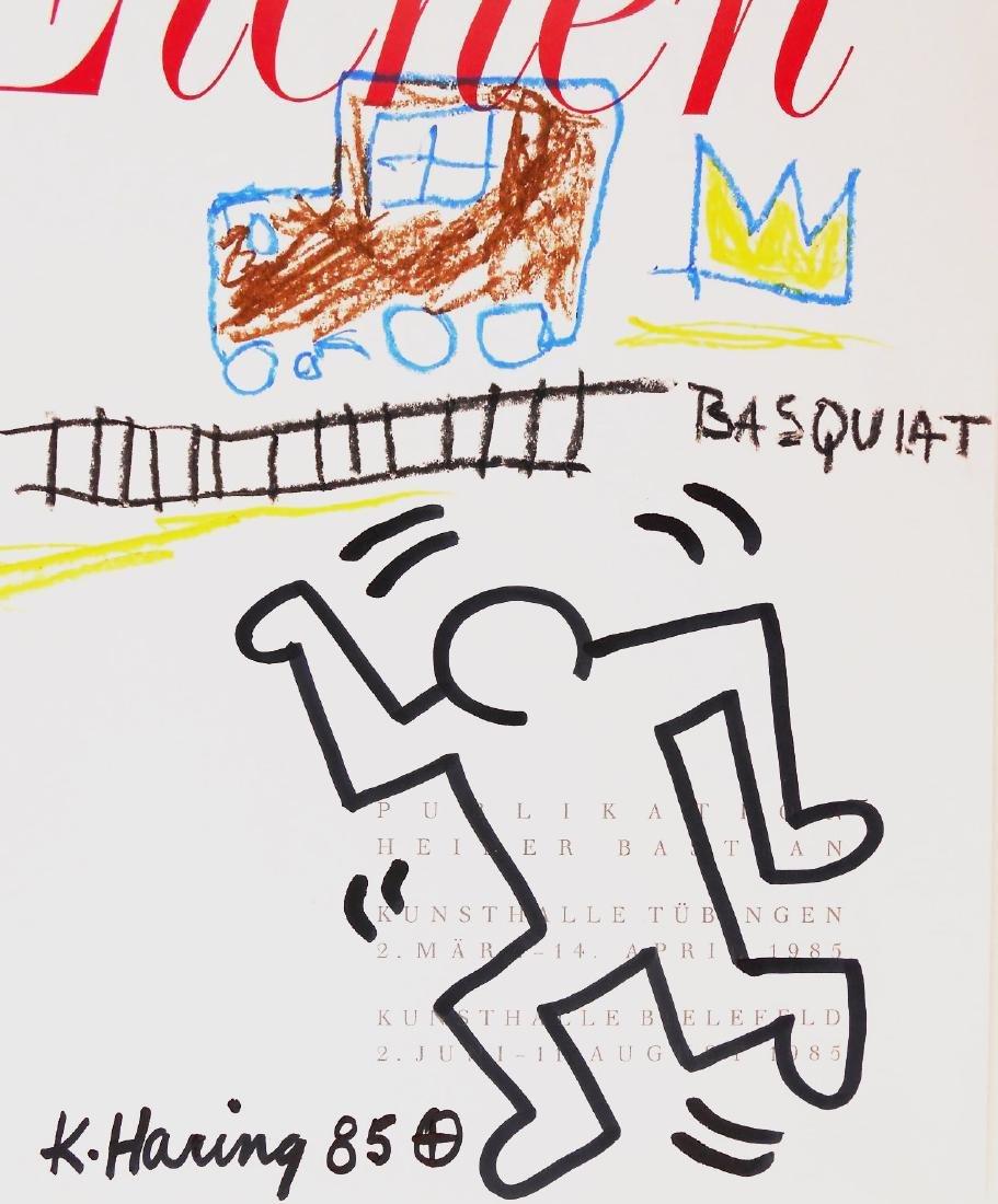 Keith Haring & Jean-Michel Basquiat Drawing - 2