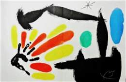 Joan Miro 18931983 Signed Color Lithograph