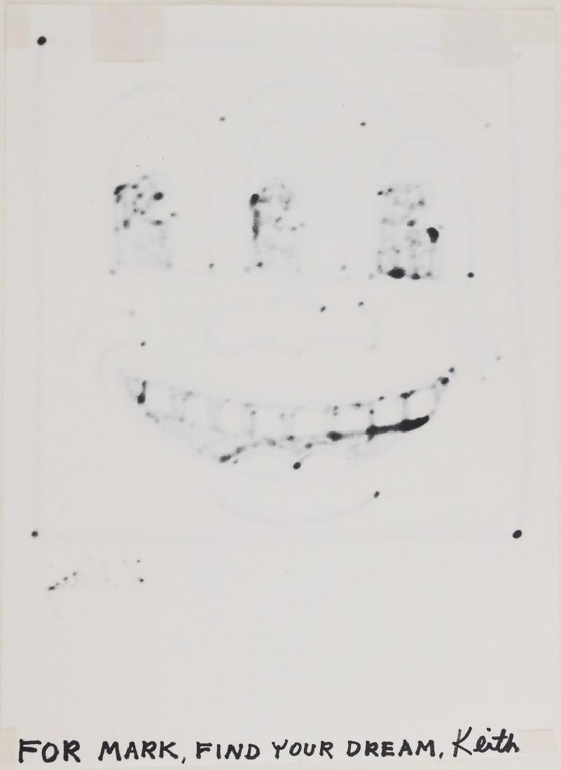"""Keith Haring (1958-1990) """"TV Face"""" Drawing - 2"""