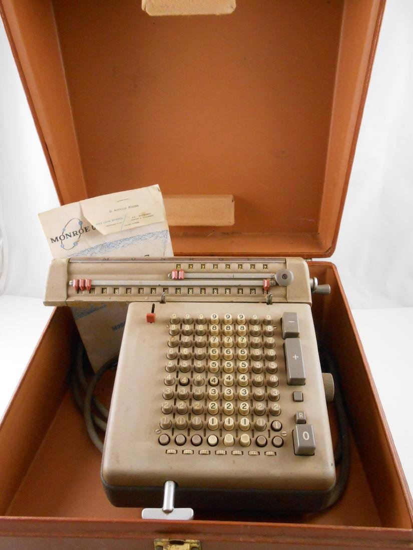 Vintage Adding Machine And Case