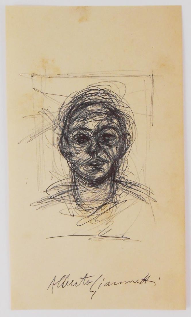 Alberto Giacometti (1901-1966) Black Ink Sketch