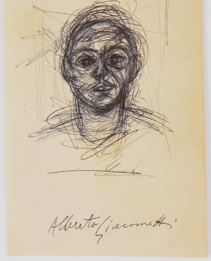 Alberto Giacometti (1901-1966) Black Ink Sketch - 2