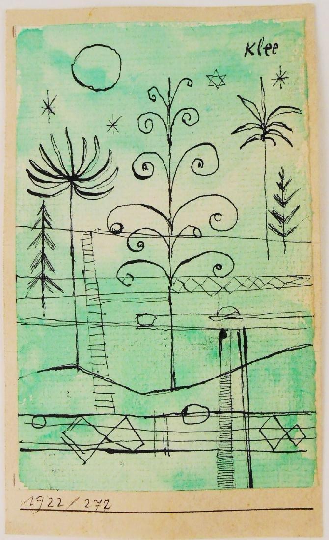 Paul Klee (1879-1940) Ink & Watercolor