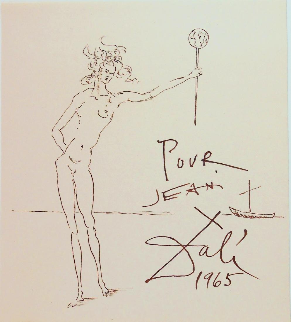 Salvador Dali (1904-1989) Souvenir Ink Sketch
