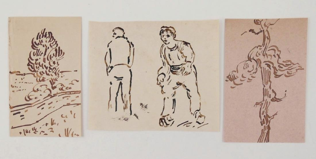 Vincent Van Gogh (1853-1890) Group Of Sketches