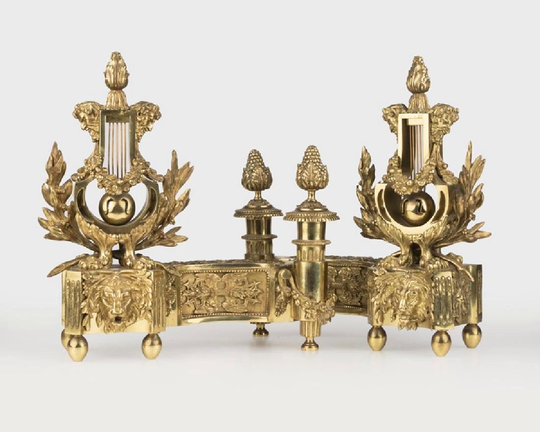 Pair Of Louis XVI-Style Fireplace Chenets