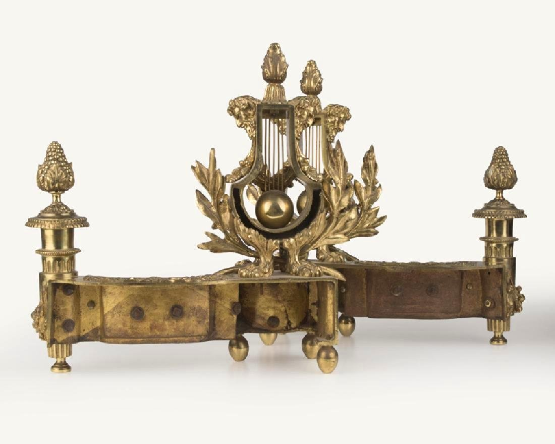 Pair Of Louis XVI-Style Fireplace Chenets - 2
