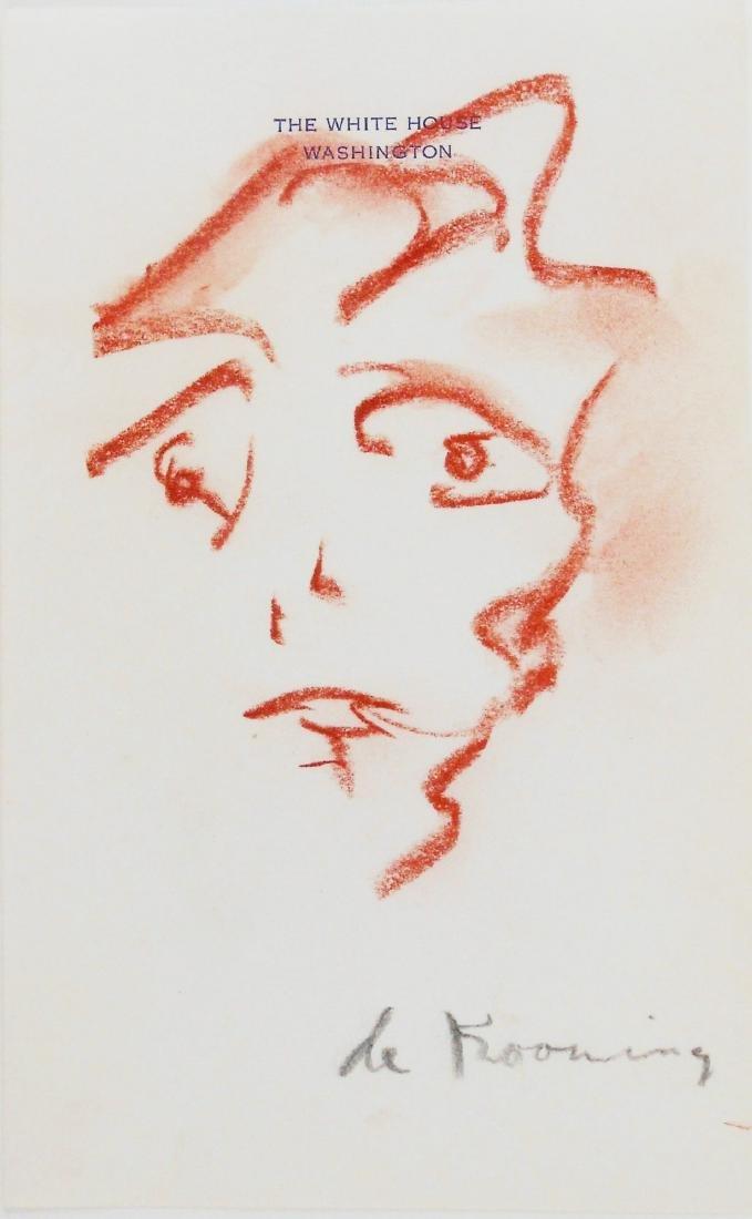Willem De Kooning (1904-1997) Chalk Drawing