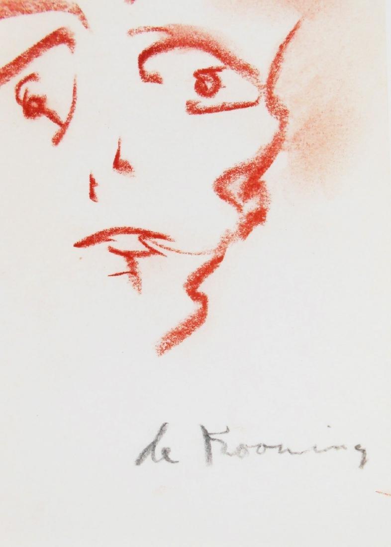 Willem De Kooning (1904-1997) Chalk Drawing - 2