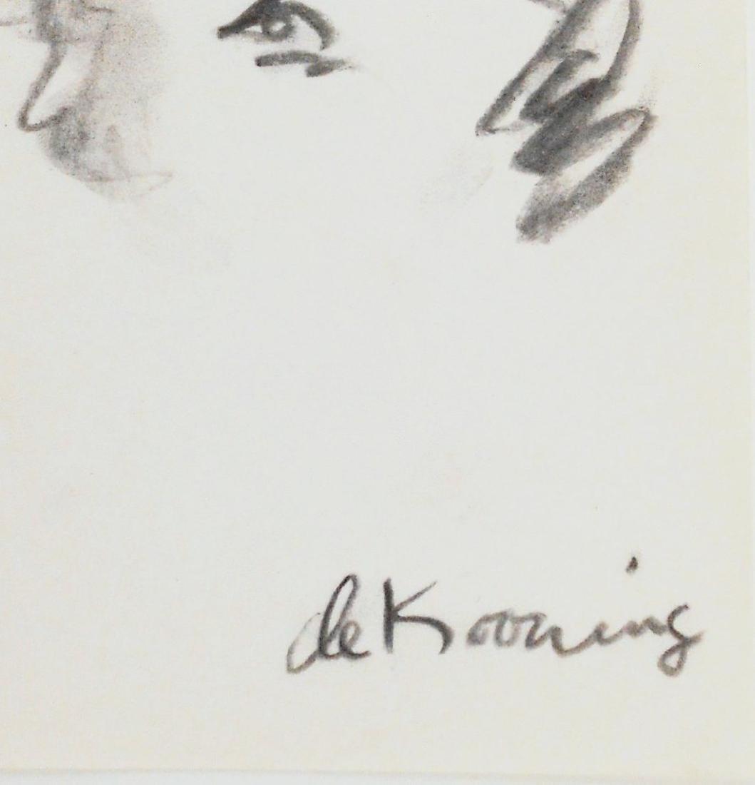 Willem De Kooning (1904-1997) Charcoal Drawing - 3
