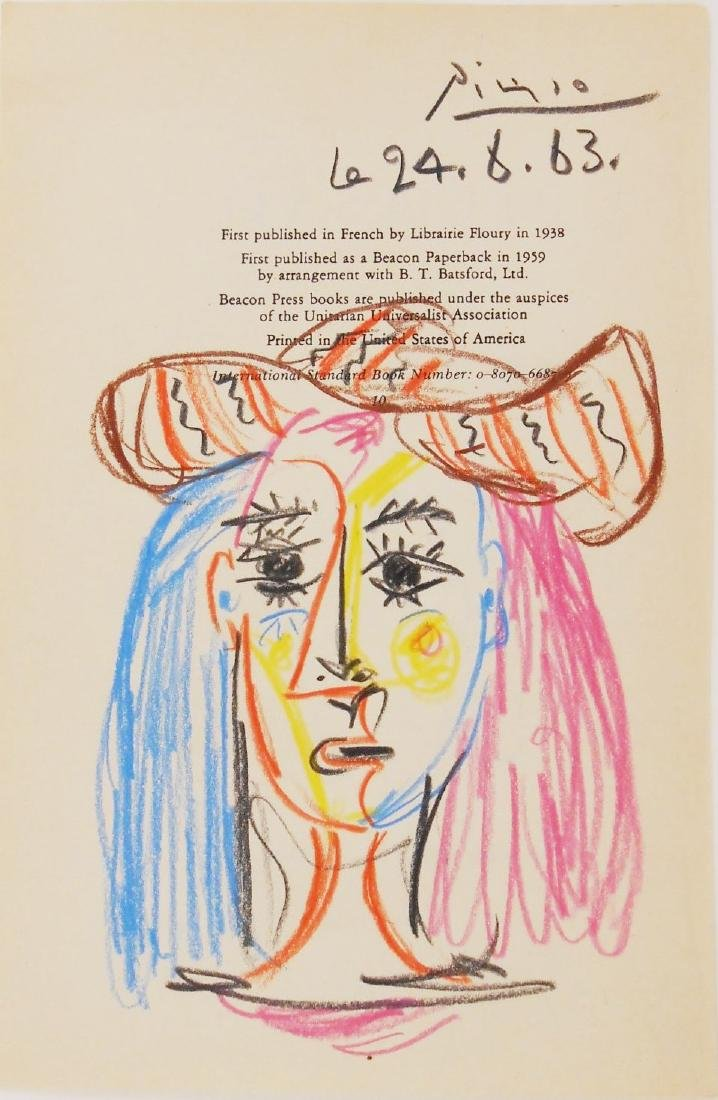 Pablo Picasso (1881-1973) Title Page Drawing
