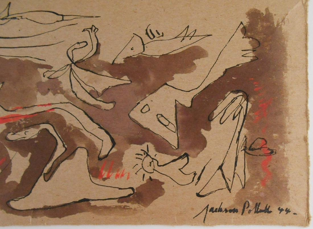 Jackson Pollock (1912-1956) Black Ink & Wash - 2