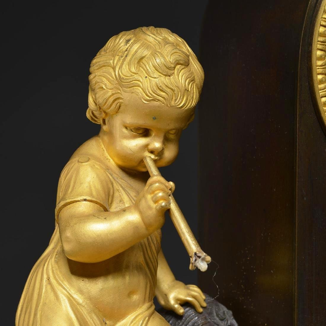 Charles X Bronze Fountain Mantel Clock - 2