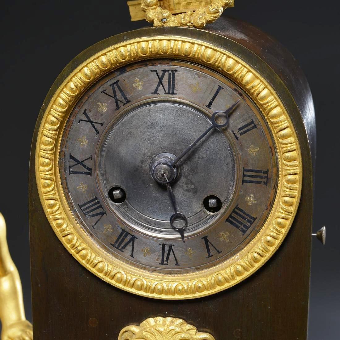 Charles X Bronze Fountain Mantel Clock - 3