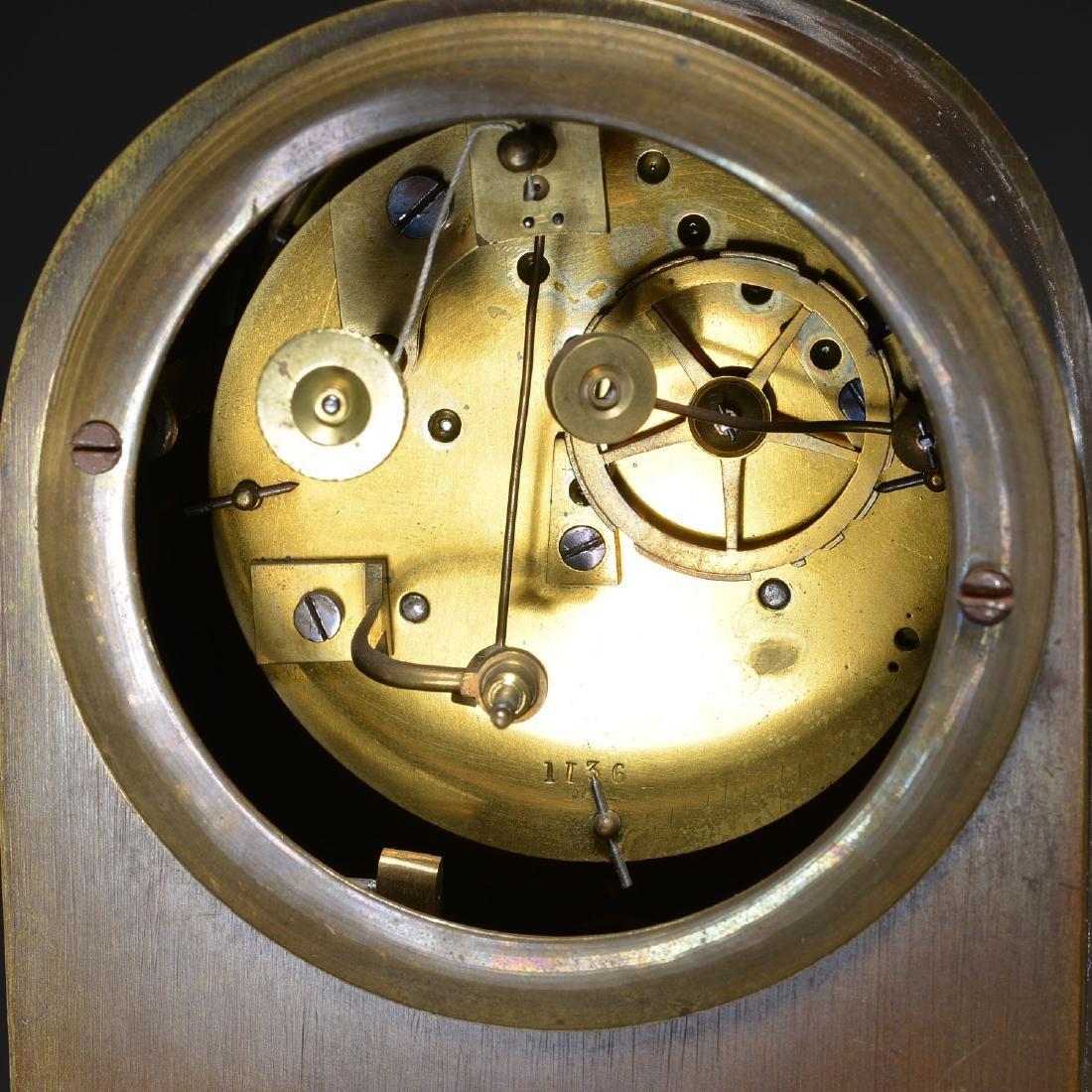 Charles X Bronze Fountain Mantel Clock - 6