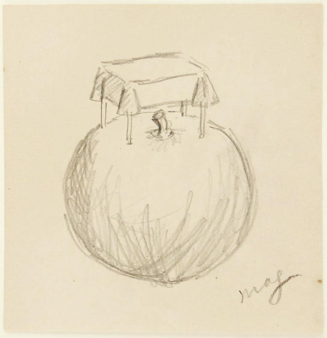 Rene Magritte (1898-1967) Pencil Drawing