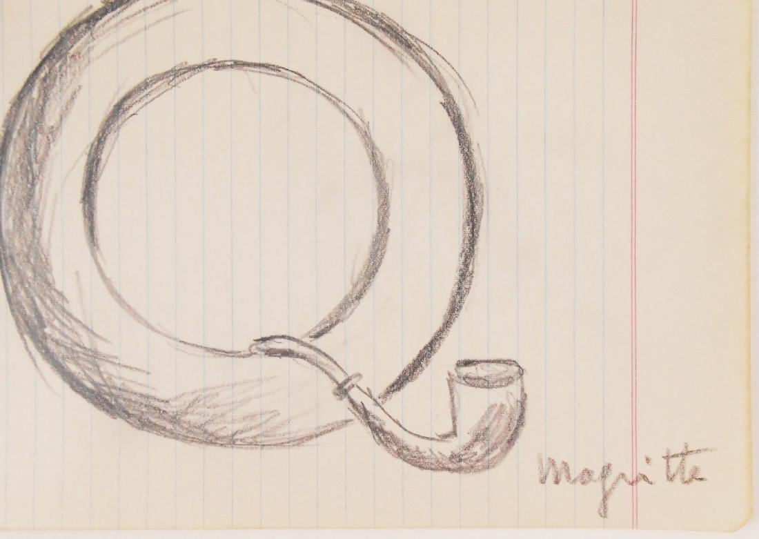 Rene Magritte (1898-1967) Pencil Sketch - 2