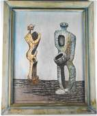 Surrealist Oil Painting Signed Ray