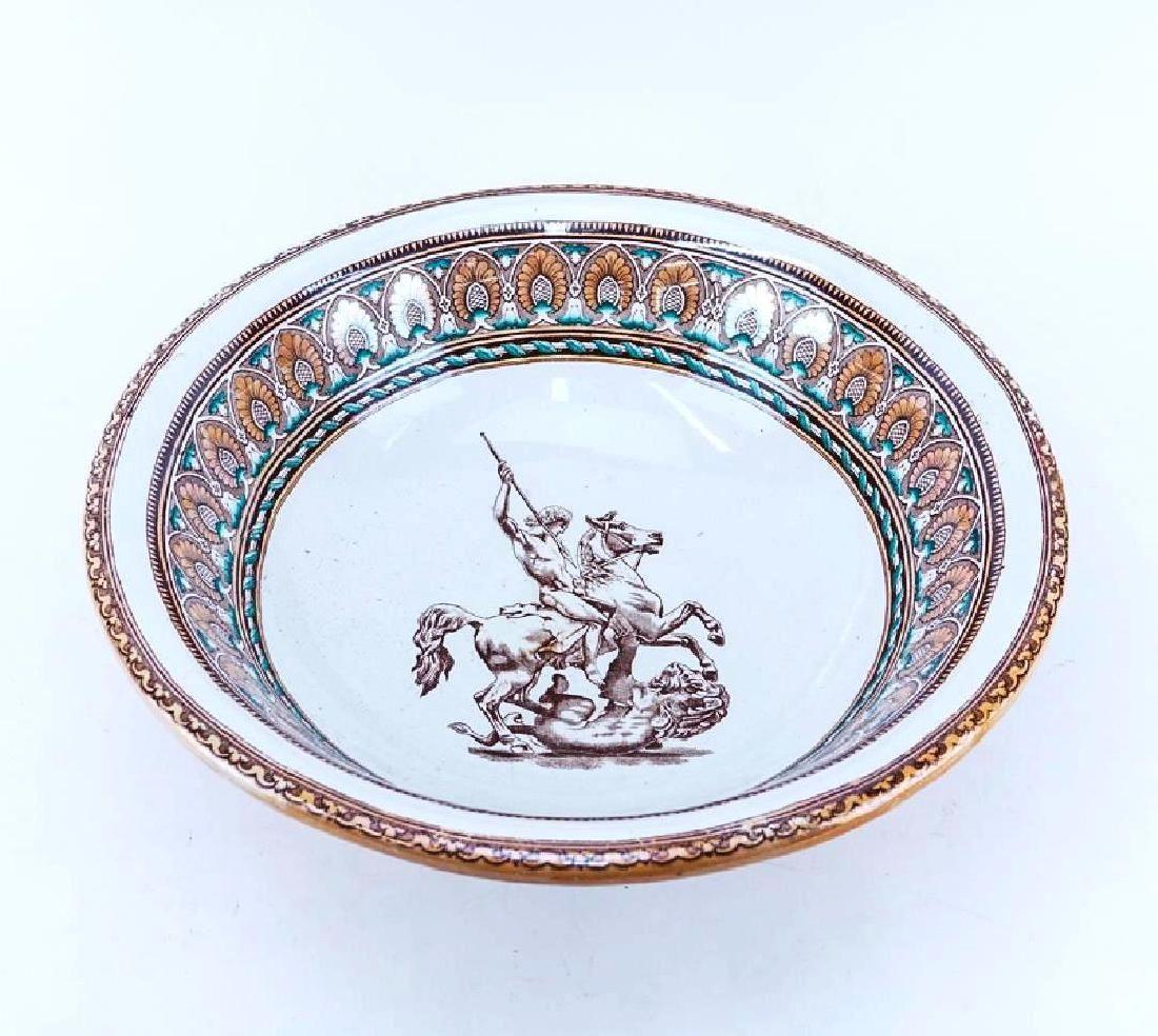 Antique Pottery Center Bowl, Circa 19th Century