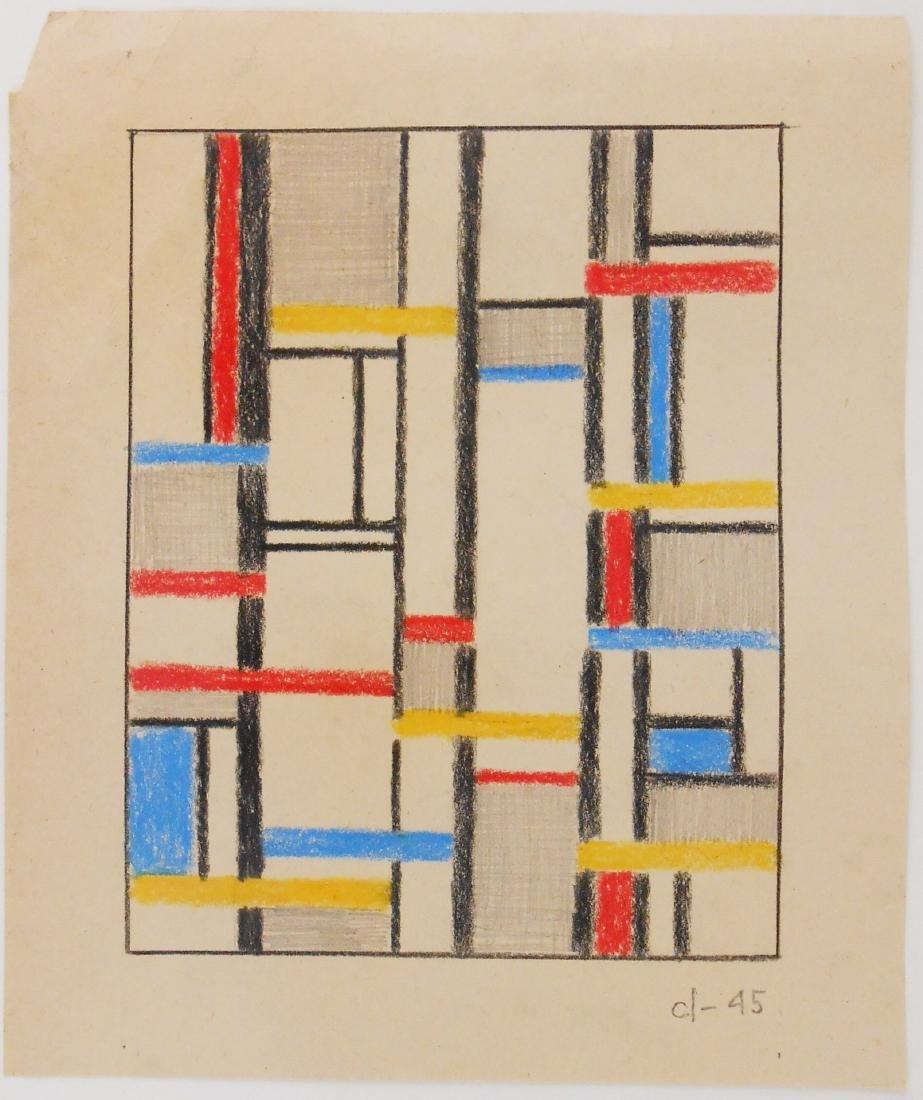 Burgoyne Diller (1906-1965) Colored Pencil