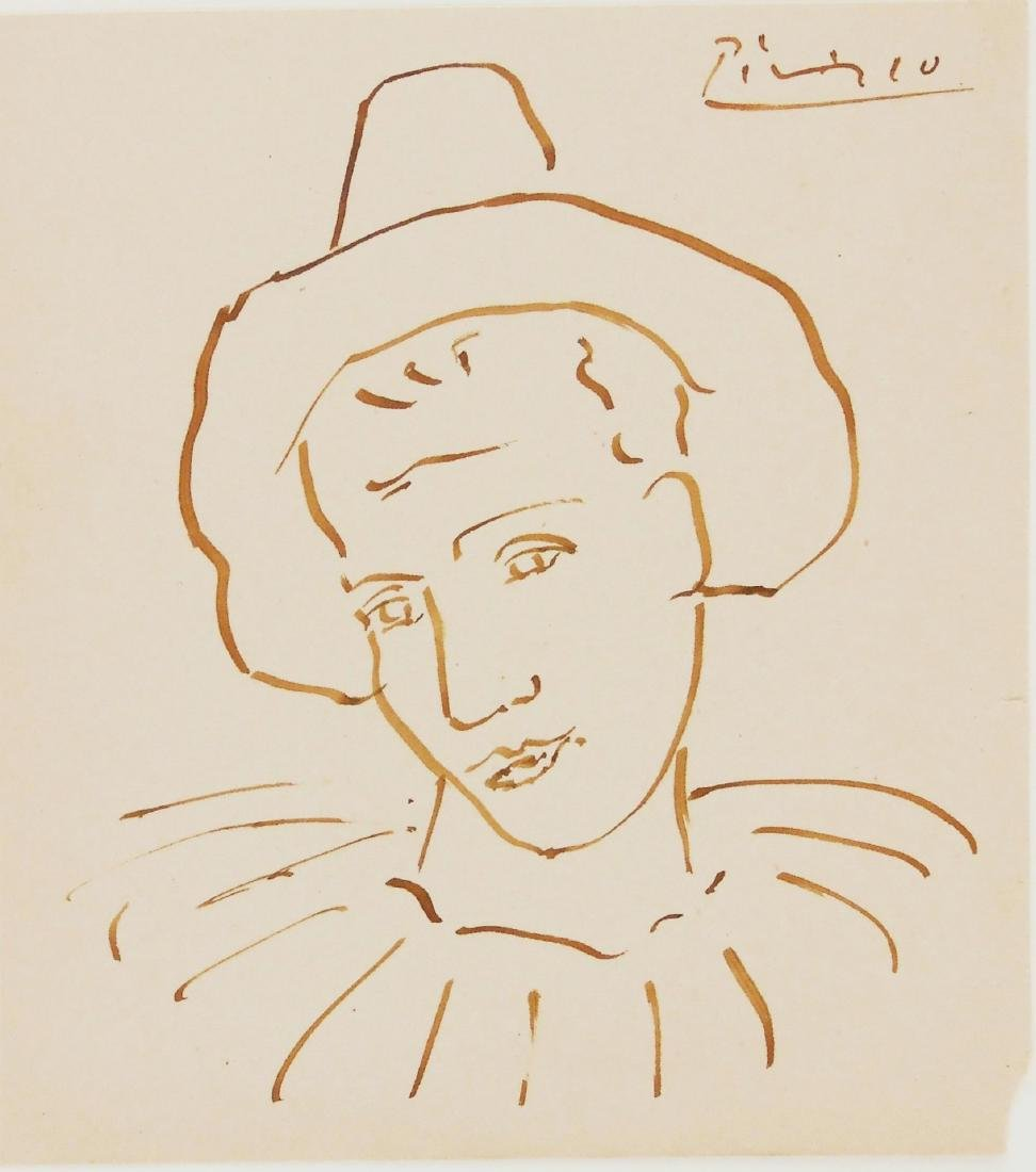 Pablo Picasso (1881-1973) Brown Ink Drawing