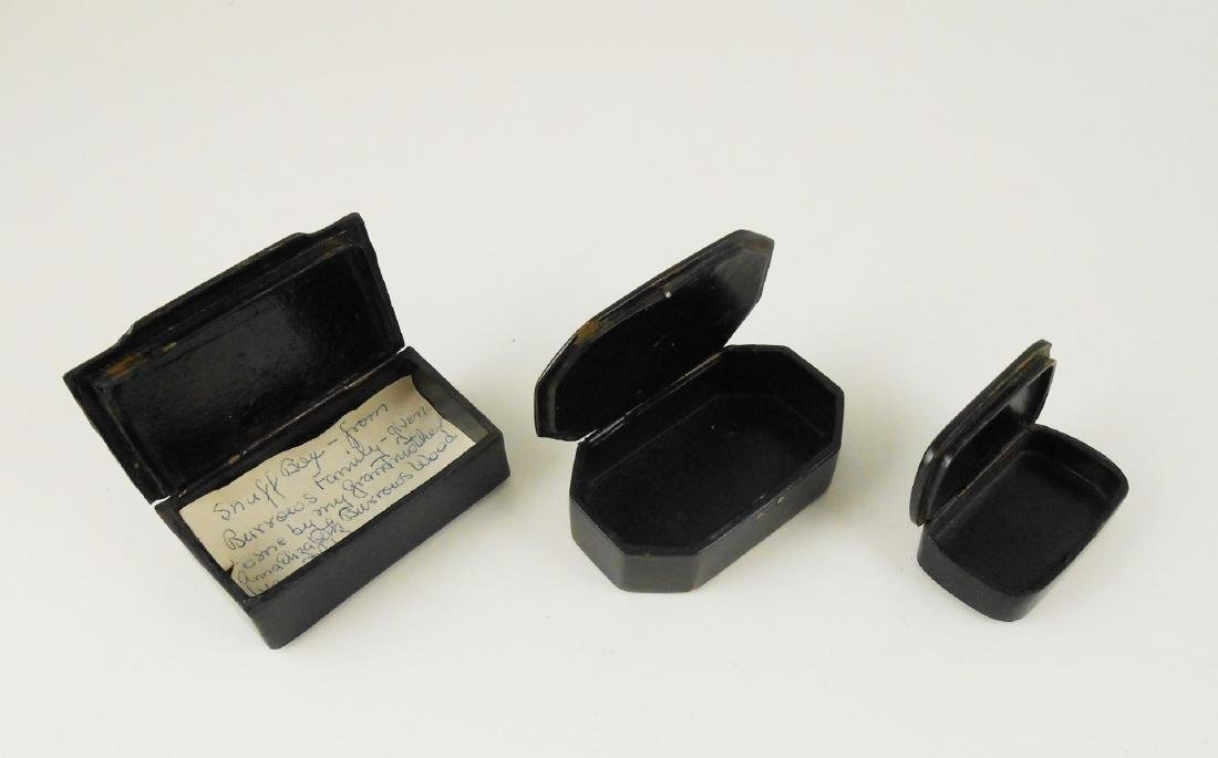 Group Of Three Antique Snuff Boxes - 2