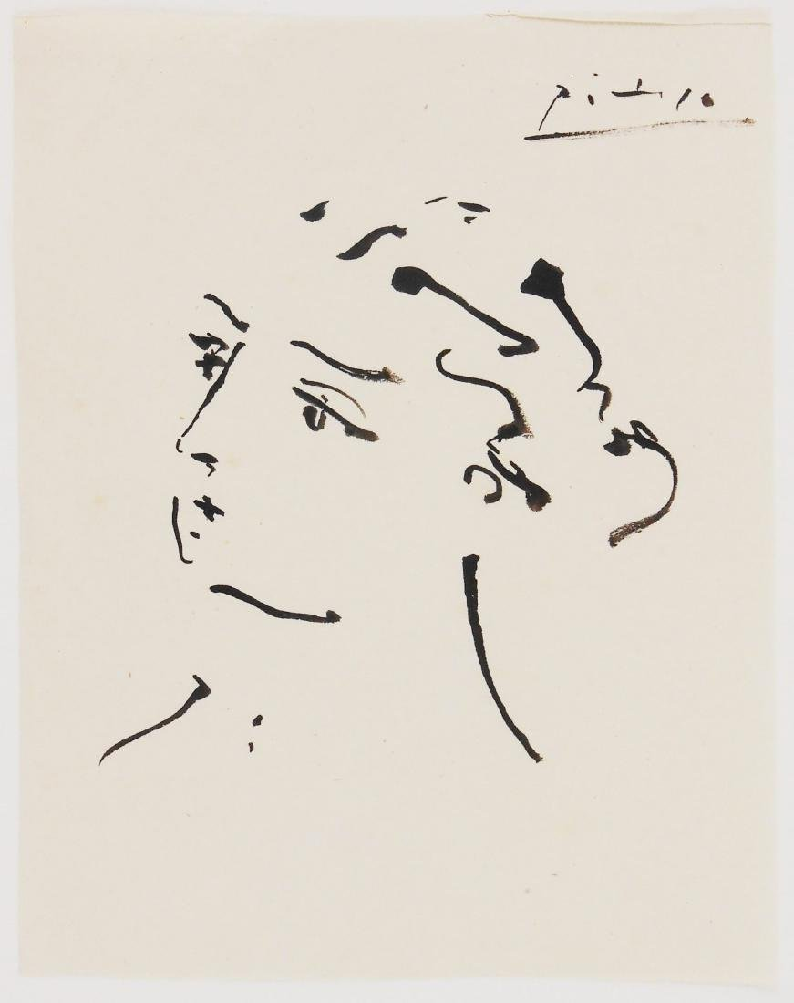 Pablo Picasso (1881-1973) Black Ink Sketch