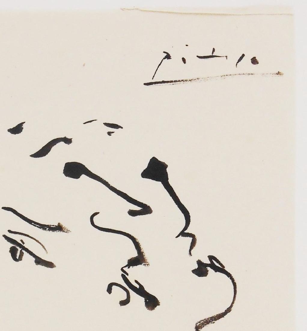 Pablo Picasso (1881-1973) Black Ink Sketch - 2