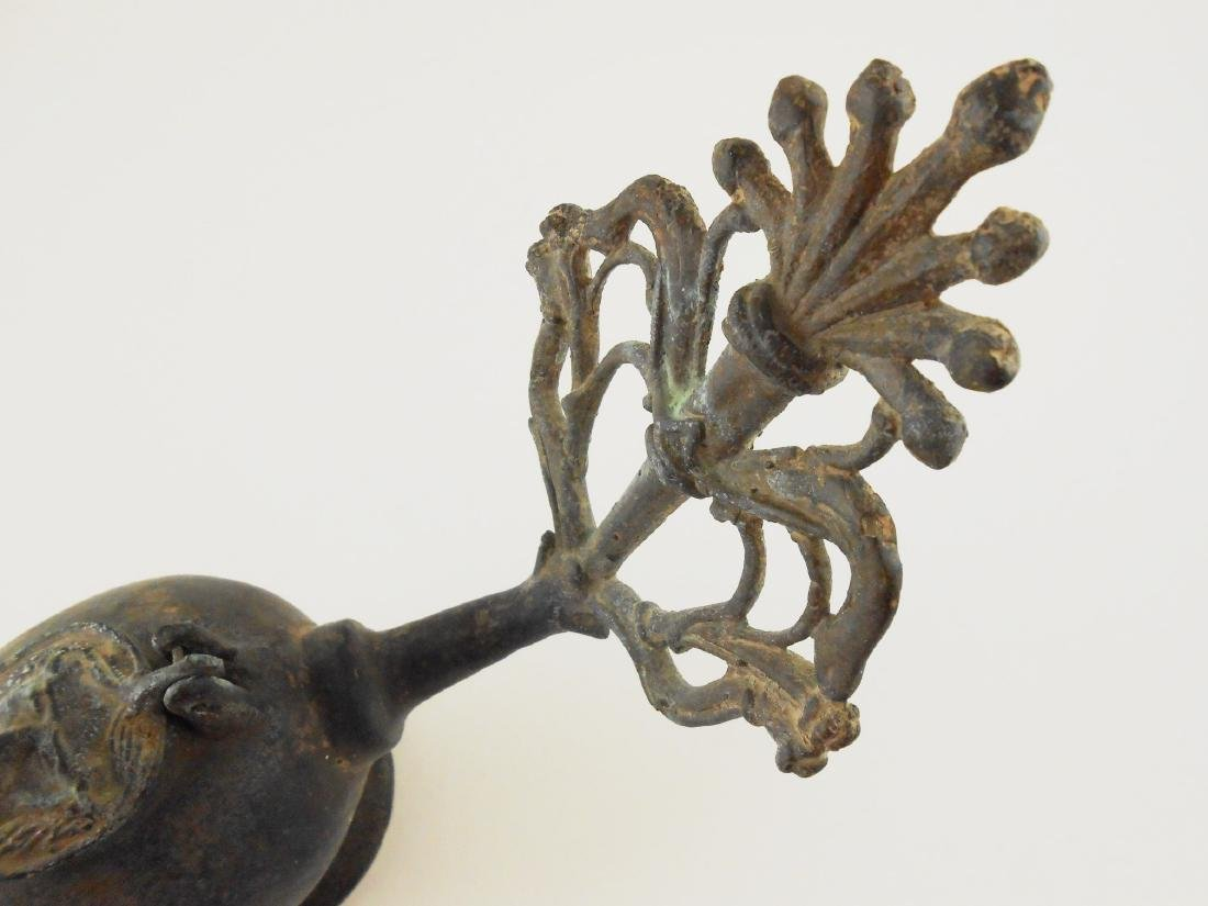 Roman-Style Grand Tour Bronze Oil Lamp - 2
