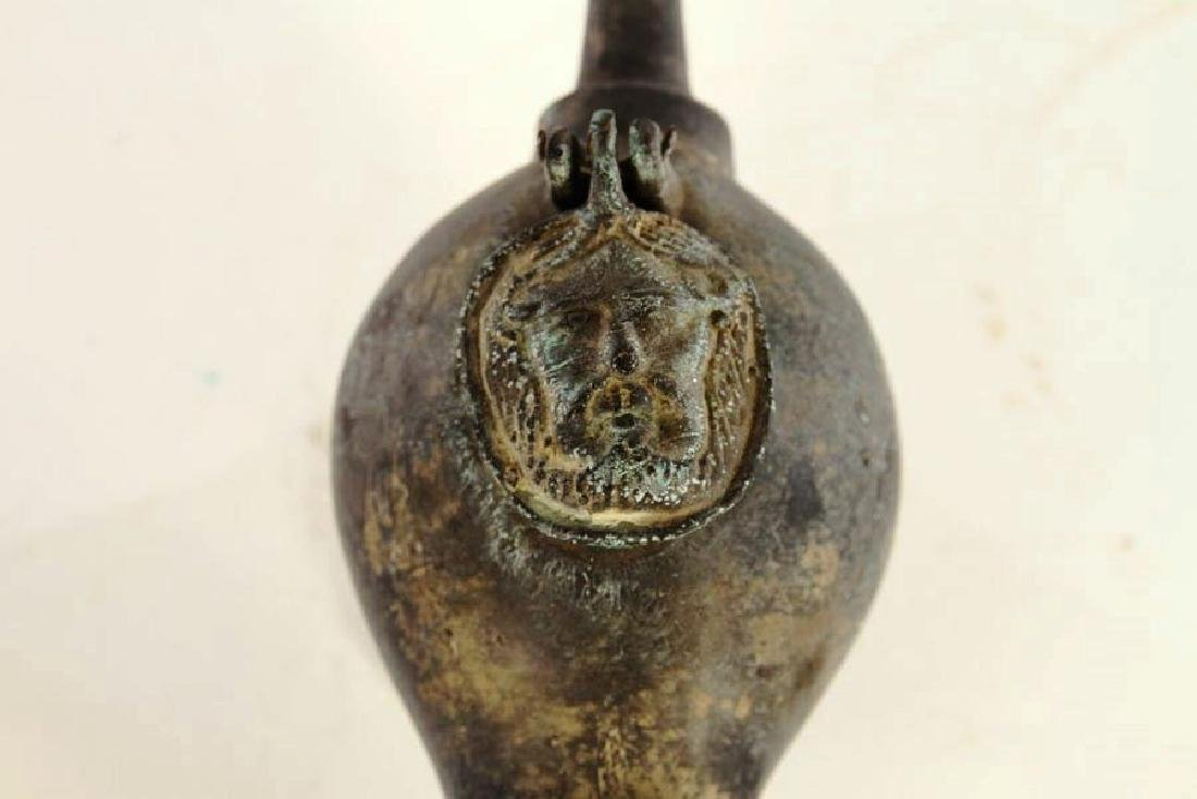 Roman-Style Grand Tour Bronze Oil Lamp - 4