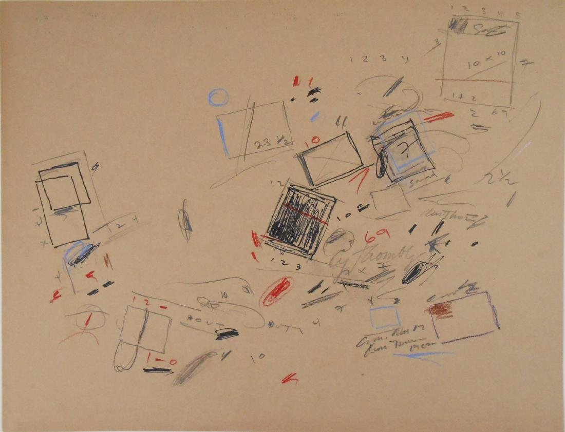Cy Twombly (1928-2011) Mixed Media Drawing