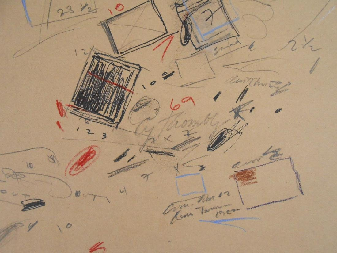 Cy Twombly (1928-2011) Mixed Media Drawing - 2