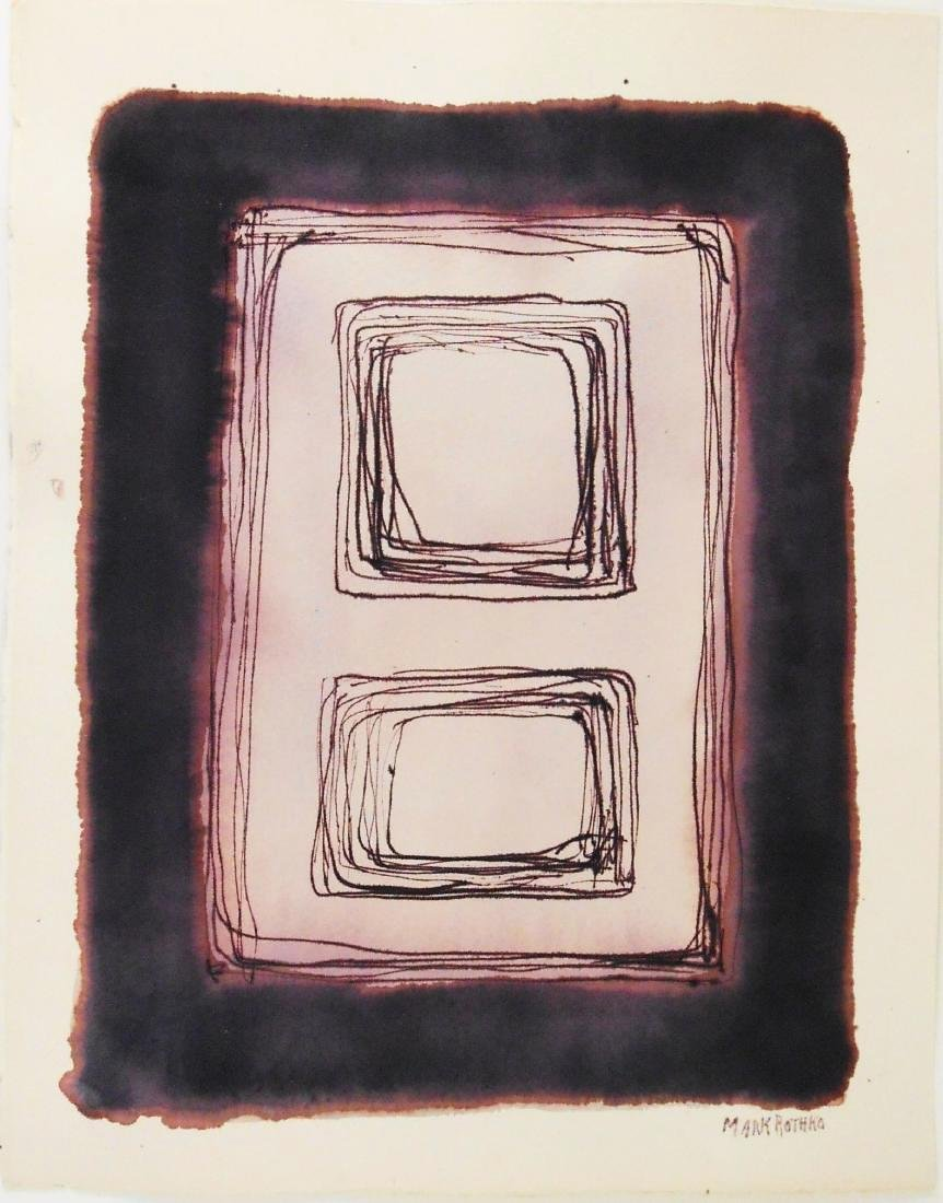 Mark Rothko (1903-1970) Ink On Paper
