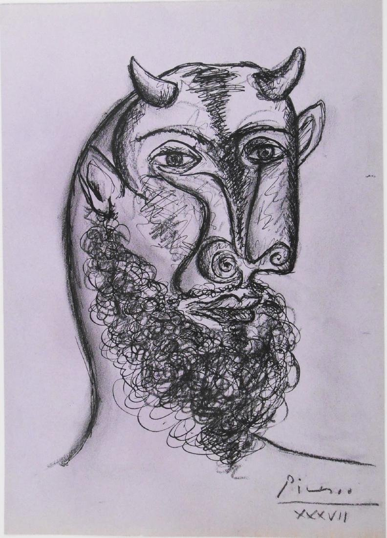 Pablo Picasso (1881-1973) Ink & Charcoal Drawing