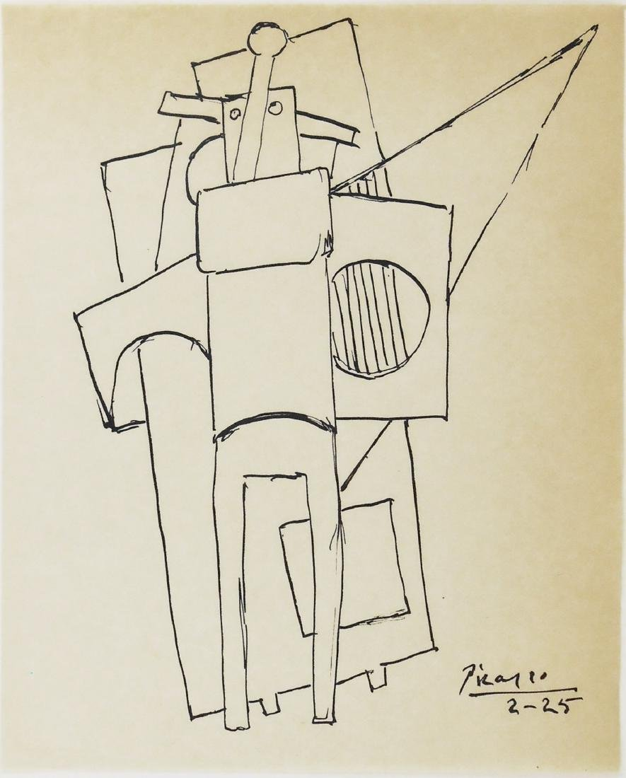 Pablo Picasso (1881-1973) Black Ink Drawing