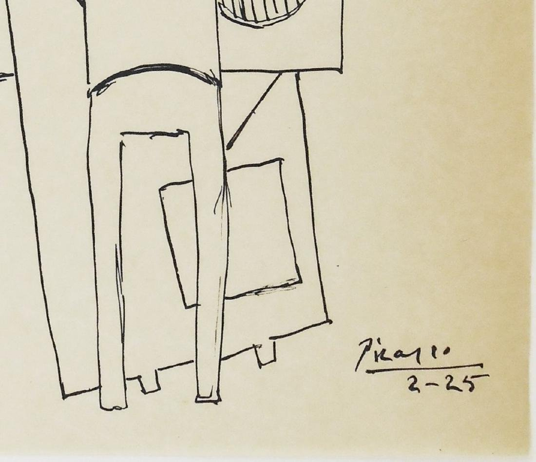 Pablo Picasso (1881-1973) Black Ink Drawing - 2