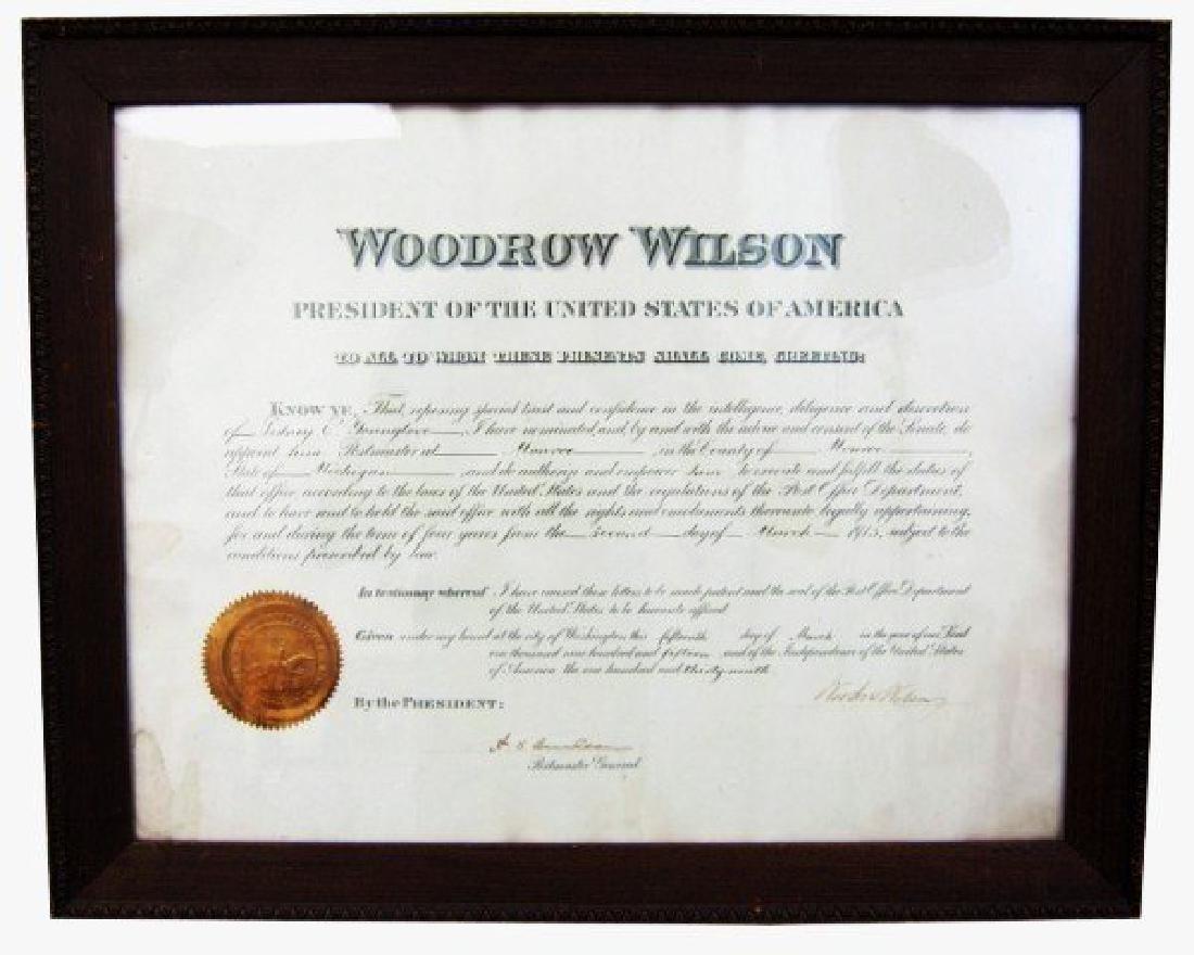 1915 Woodrow Wilson Presidential Document