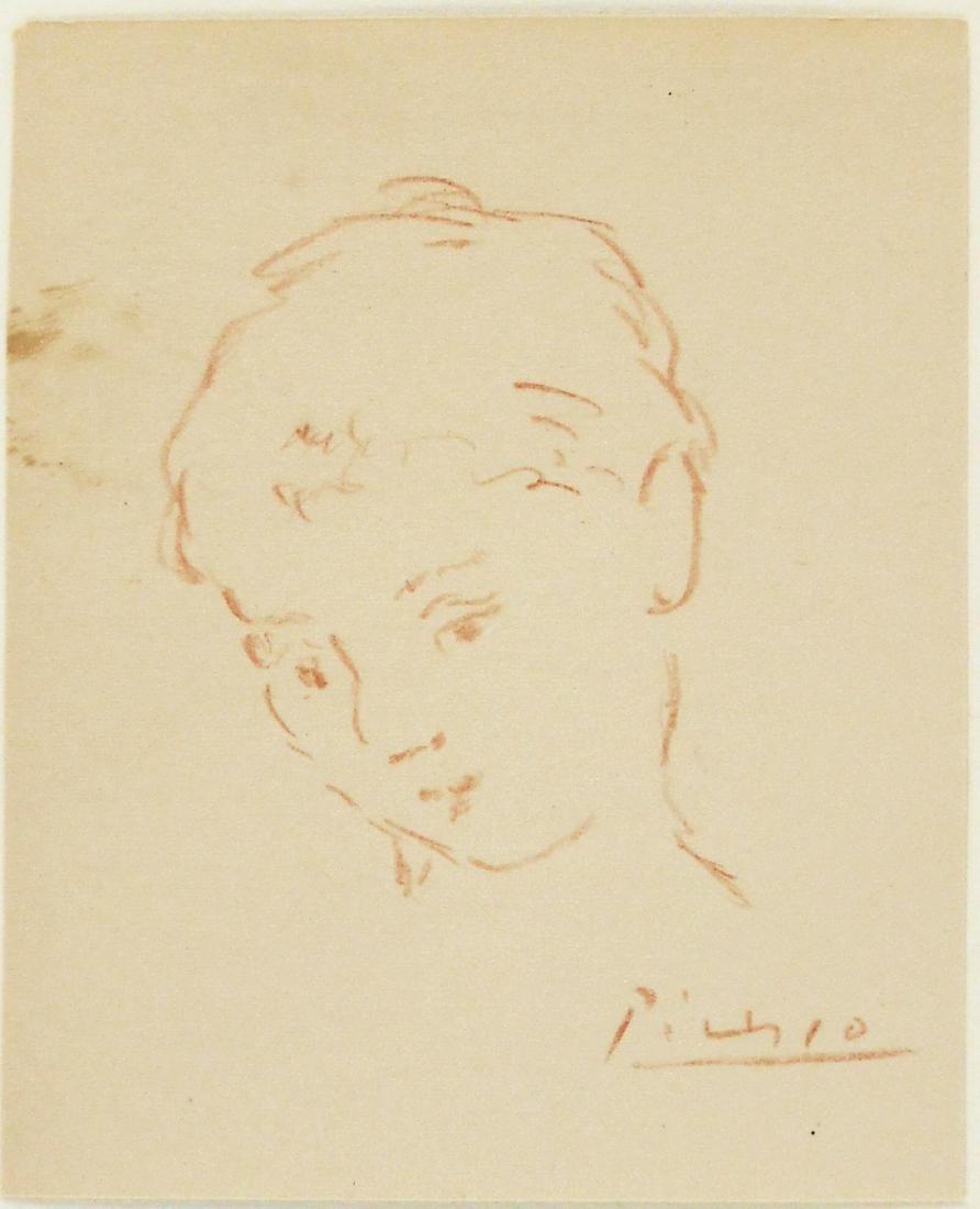 Pablo picasso 1881 1973 sanguine pencil sketch