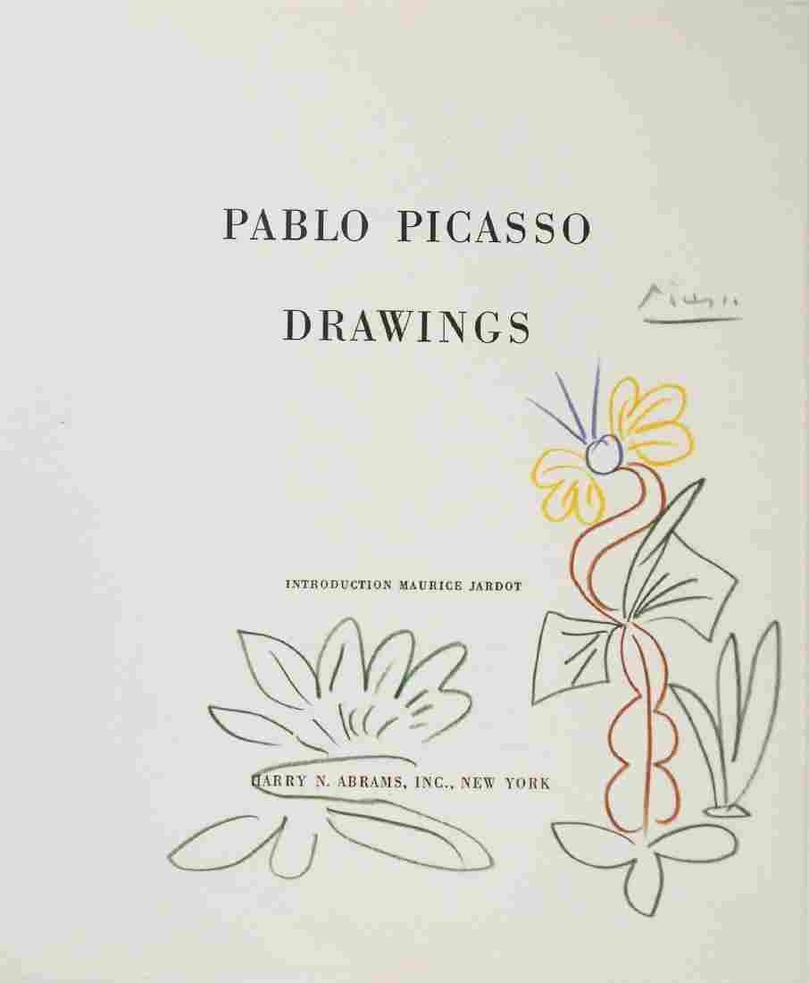 Pablo Picasso (1881-1973) Colored Pencil Sketch