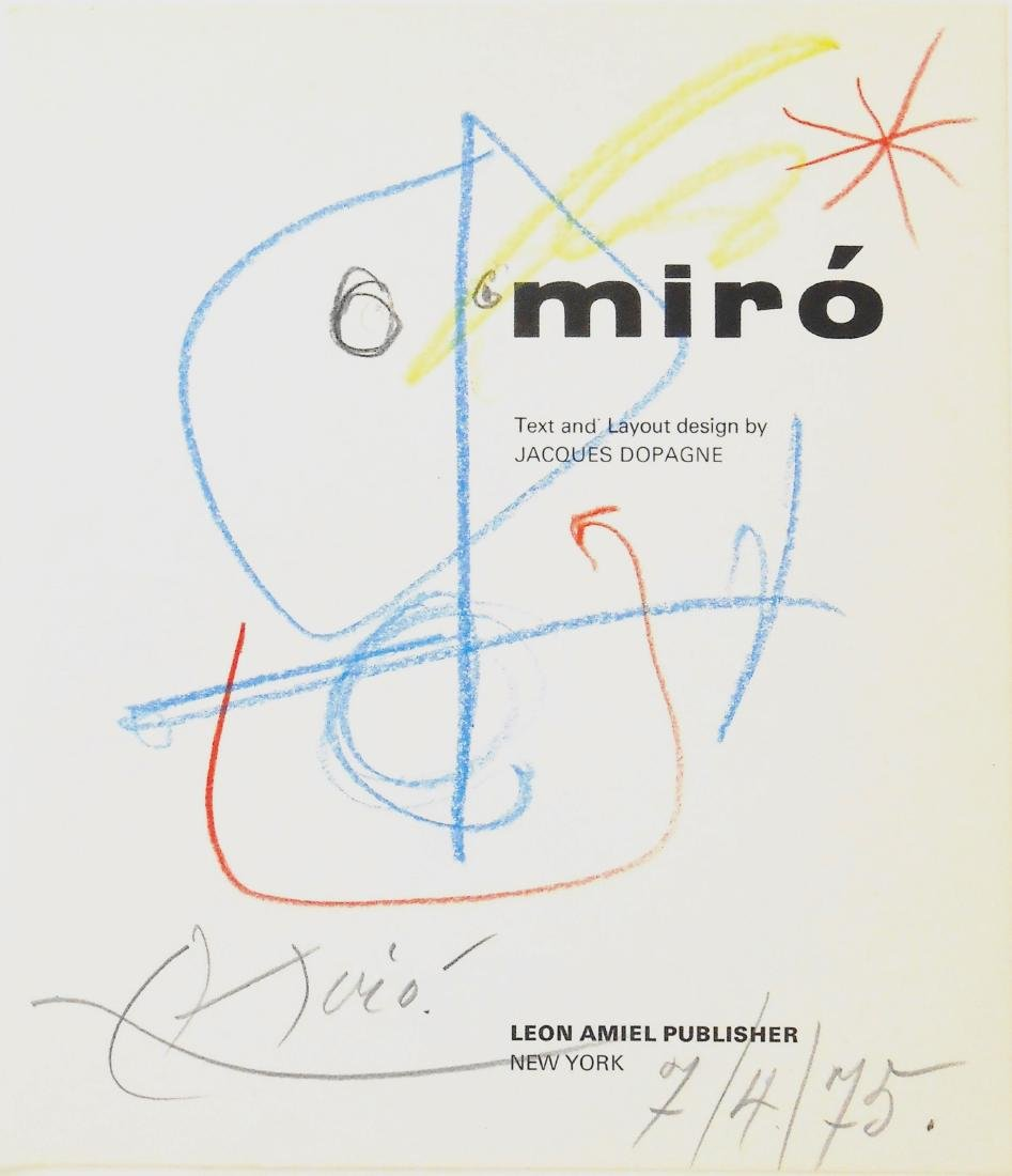 Joan Miro (1893-1983) Illustrated Book Page