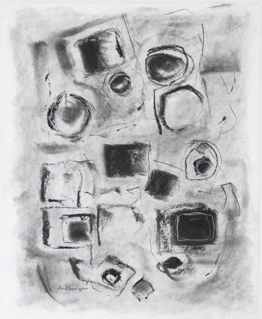 Ida Kohlmeyer (1912-1997) Charcoal Drawing