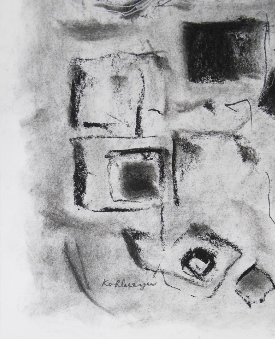 Ida Kohlmeyer (1912-1997) Charcoal Drawing - 2