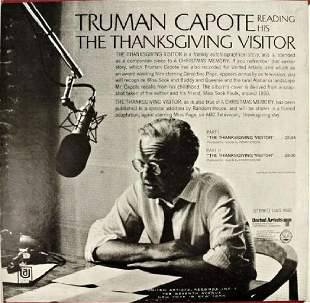 Scarce Truman Capote Thanksgiving Record