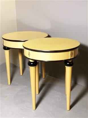 Pair Of BiedermeierStyle Side Tables